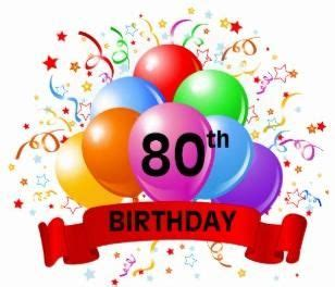 80th birthday clip art free clipart