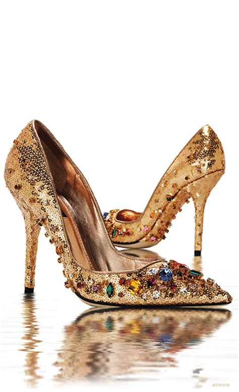 dolce and gabbana shoes gold sequined and jeweled pumps dolce gabbana