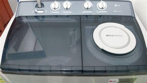 Mesin Cuci 2 Tabung Kapasitas 14 Kg jual mesin cuci lg 2 tabung 14 kg wp 1460r di lapak surya