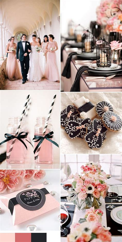 25 best ideas about pink black weddings on blush pink and black wedding black