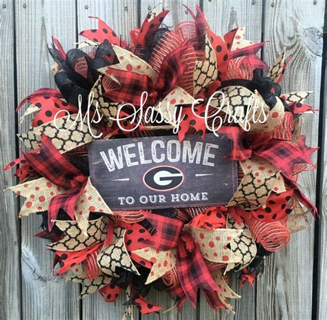 georgia bulldog home decor 1000 ideas about georgia bulldog wreath on pinterest