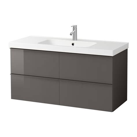 high gloss grey bathroom cabinets godmorgon odensvik sink cabinet with 4 drawers high