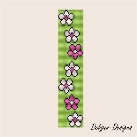 flower bead loom patterns free loom beading patterns images bead me