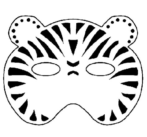 tiger mask coloring page tiger mask template coloring pages