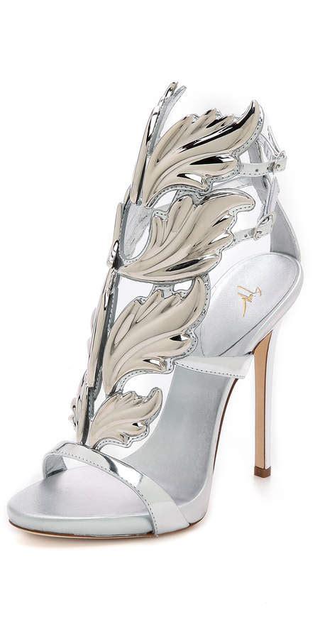 giuseppe zanotti wing sandals giuseppe zanotti metal wing sandals shopstyle co uk