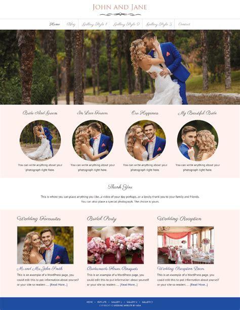 Wedding Invitation and Wedding Gallery Websites   WDA Designs