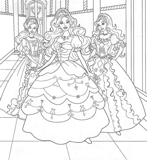 free printable barbie coloring pages kids