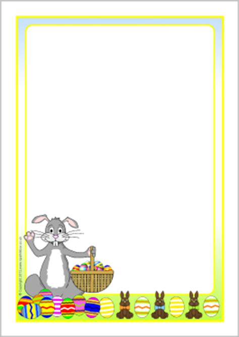 easter card template microsoft word easter bunny a4 page borders sb7646 sparklebox