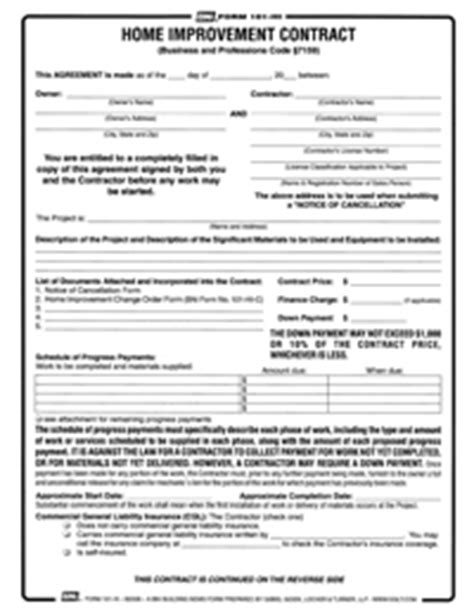 form 101hi prime home improvement contract reusable pdf