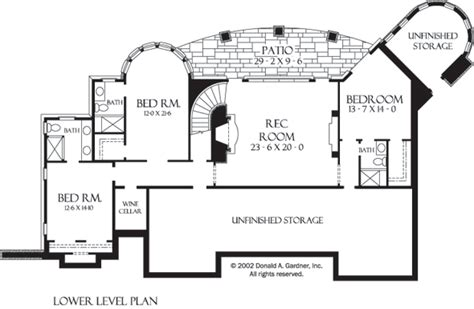 hollowcrest house plan plan of the week ranch and hillside walkout