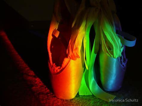 point shoes quot rainbow en pointe quot by schultz redbubble