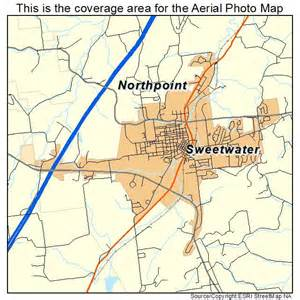 aerial photography map of sweetwater tn tennessee