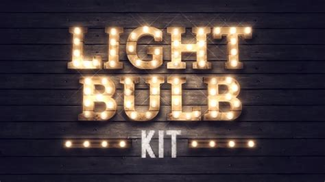 After Effects Templates Free Light Bulb | animated text titles light bulb kit after effects