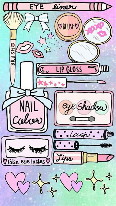 makeup cartoon wallpaper enjoy image 3492169 by winterkiss on favim com