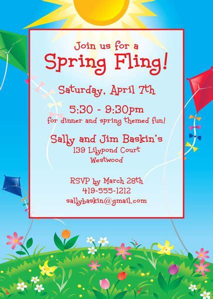 spring themed work events flying kites invitation