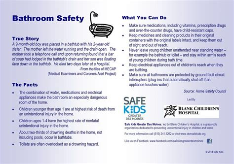 bathroom safety tips 11 best national accident helpline infographics images on