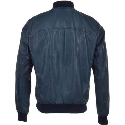 Leather Bomber Jacket mens leather bomber jacket navy danny