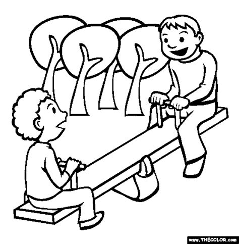 coloring playground sign coloring pages