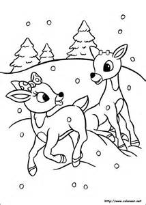 free coloring pages of rudolph