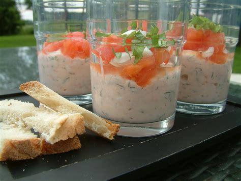 verrines au saumon fume par  paprika