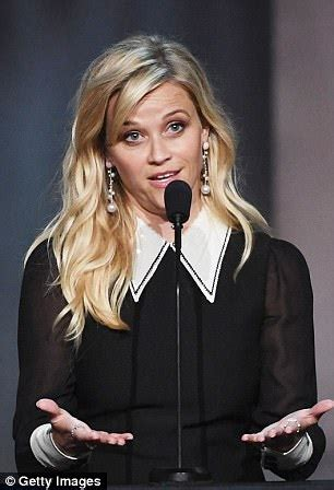 reese witherspoon dazzles in lbd at lifetime achieve