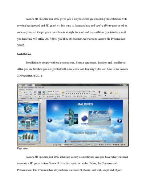 templates for aurora 3d presentation create great looking presentations with moving background