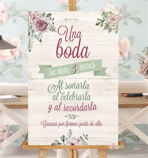 bodas tematicas bodas bonitas aniversarios cartel una boda se vive tres veces