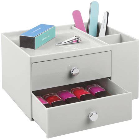 interdesign 2 drawer cosmetic organizer for makeup and