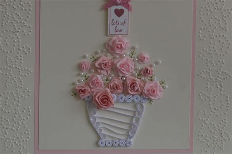 Paper Flowers For Cards - susan hook s embroidery and crafts paper flower cards