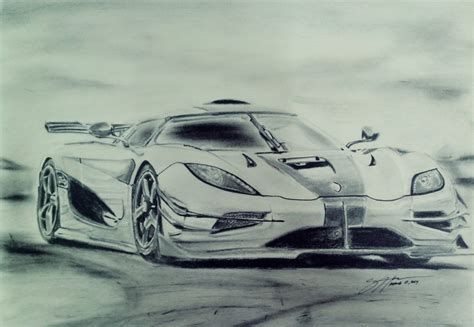 koenigsegg one drawing semi realistic sketch no 10 koenigsegg the one by