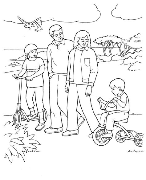 coloring page family 45 best lds primary coloring pages images on pinterest