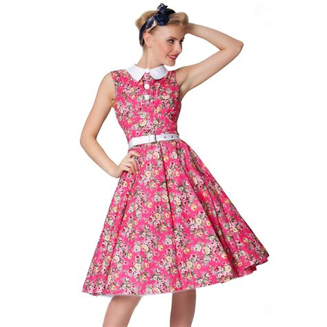 Collar Classic Dress sexyher 1950 s vintage style multicolor pan