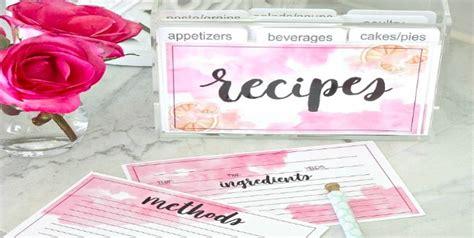 tip card template 10 printable recipe card templates free tip junkie