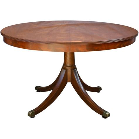 Country Dining Room Tables regency style mahogany circular table at 1stdibs