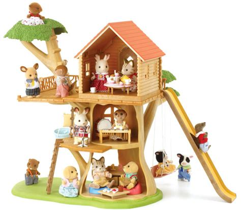 Sylfanian Tree House sylvanian families tree house dolls house 4618 ebay