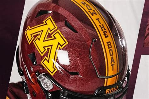 minnesota row the boat uniforms new minnesota golden gophers helmets include p j fleck