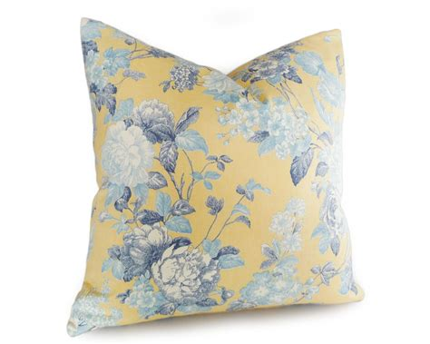 blue yellow pillows yellow and blue throw pillowsyellow floral pillows shabby