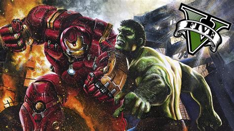 mod gta 5 hulkbuster gta v pc mods duelo iron man hulkbuster vs hulk