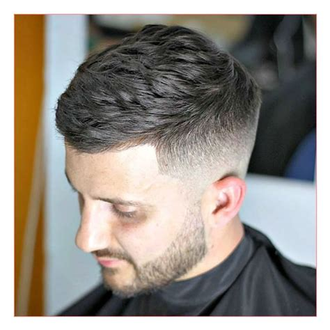 short side swept hairstyles fade haircut mens fohawk haircut and side swept cropped haircut with