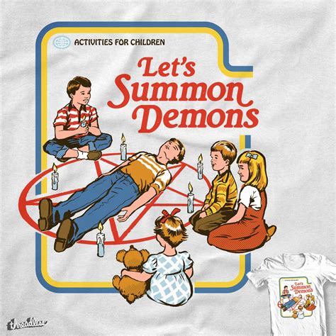 lets summon demons  cool  shirt  blue sparrow