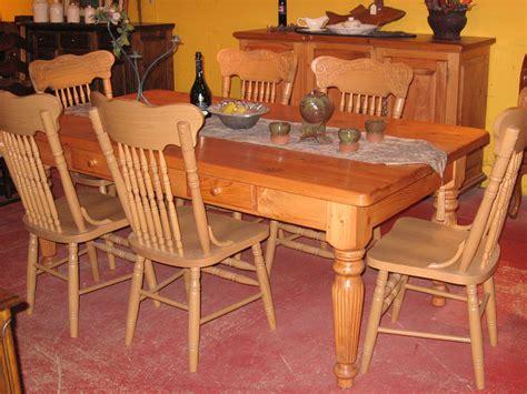 table de cuisine en pin meubles de salle 224 manger table de bois massif faites