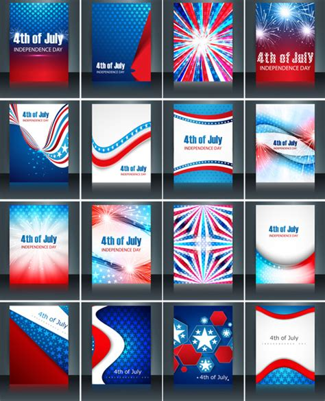 American Revoltion Top Cards Template by 4th Of July American Independence Day Collection Card Set