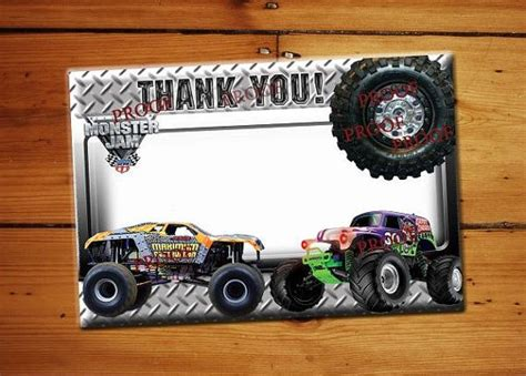 you truck jam truck thank you card blank thank you birthday card