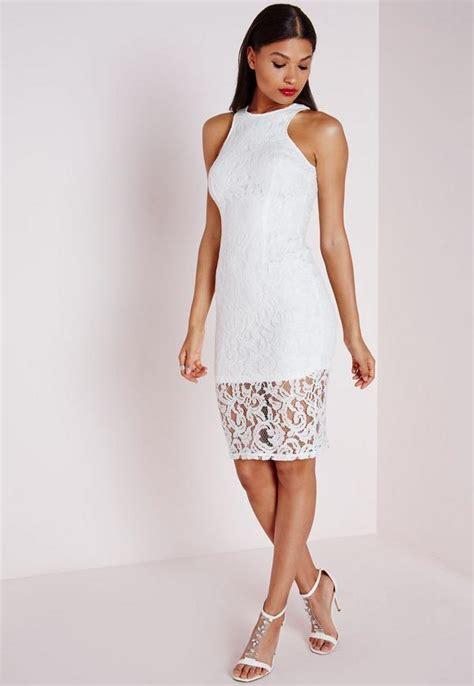 Lace Sleeveless Midi Dress sleeveless lace midi dress white missguided