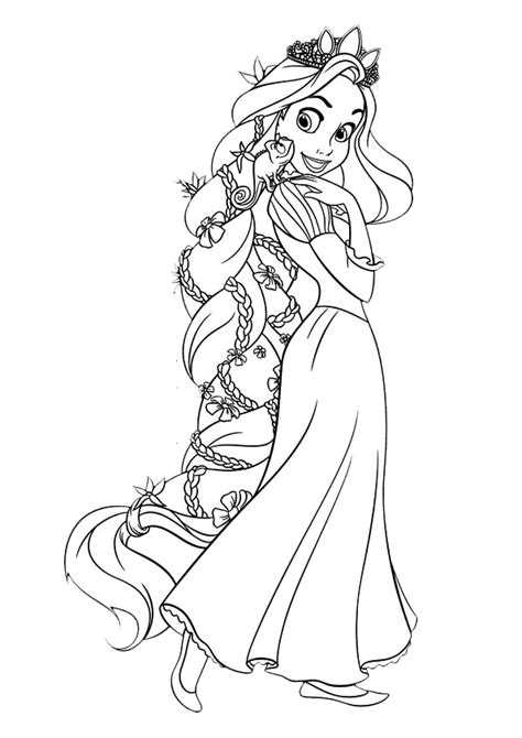 Disney Tangled Rapunzel Coloring Pages Kids Online World Baby Princess Rapunzel Coloring Pages