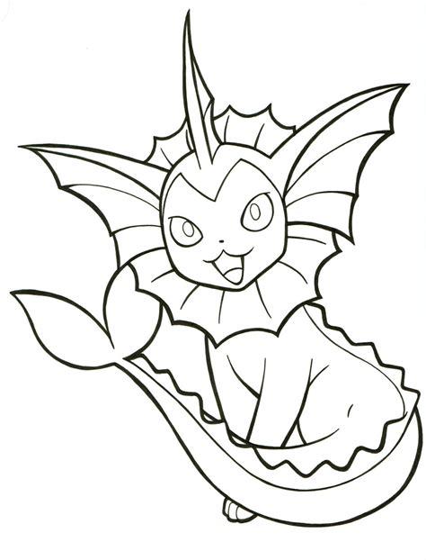 pokemon coloring pages vaporeon vaporeon lineart 134 by articwolfspirit on deviantart