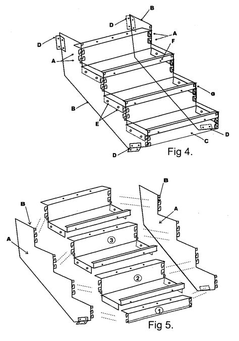 Installing Handrail Patent Us20090293385 Boltless Metal Stair Step System
