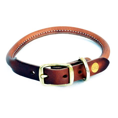 leather collars bld s rolled leather collar