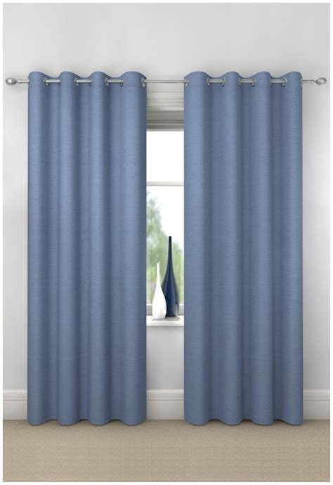 blue blackout eyelet curtains blue curtains and blinds