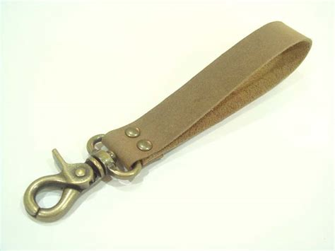 Handmade Leather Key Fob - handmade leather key fob brown on luulla